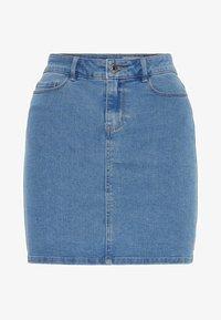 VMHOT SEVEN SKIRT - Denim skirt - light blue denim
