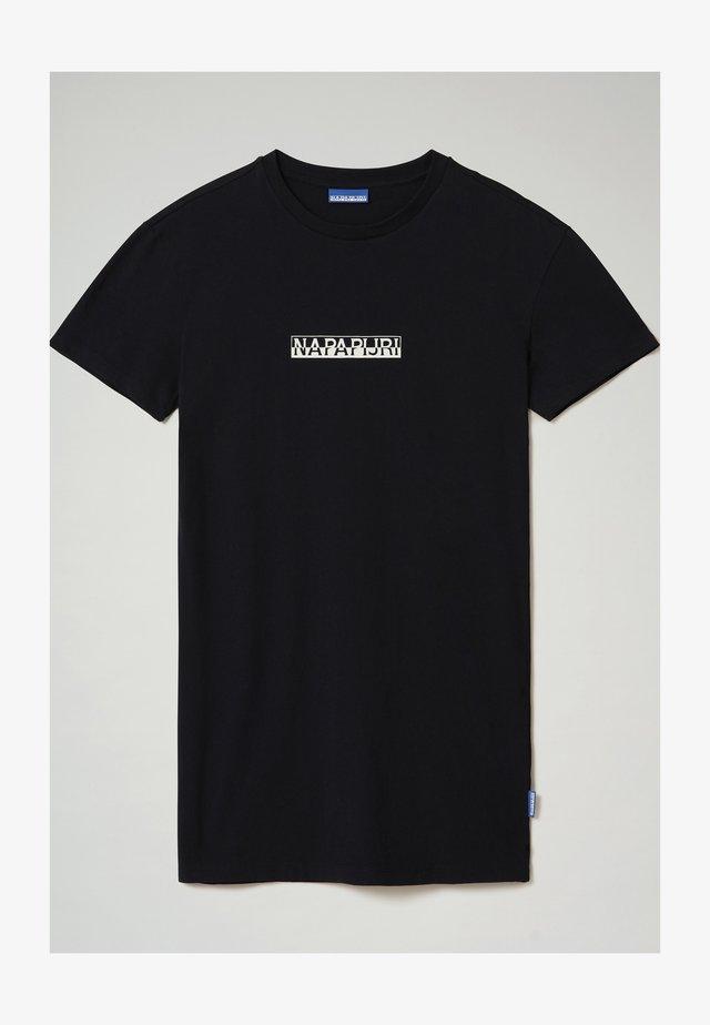 S-BOX LONG - T-shirt print - blu marine