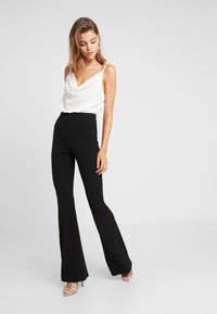 Missguided - TROUSER FLARE - Trousers - black - 2