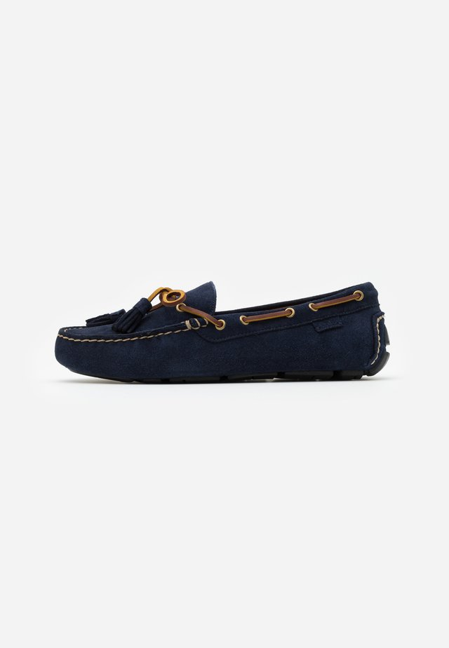 ANDERS LOAFR DRIVER - Mokasyny - navy