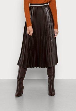 SKIRT MIDI - Áčková sukně - dark wood
