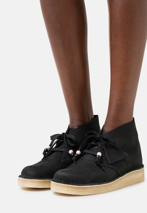 DESERT COAL - Šněrovací boty - black