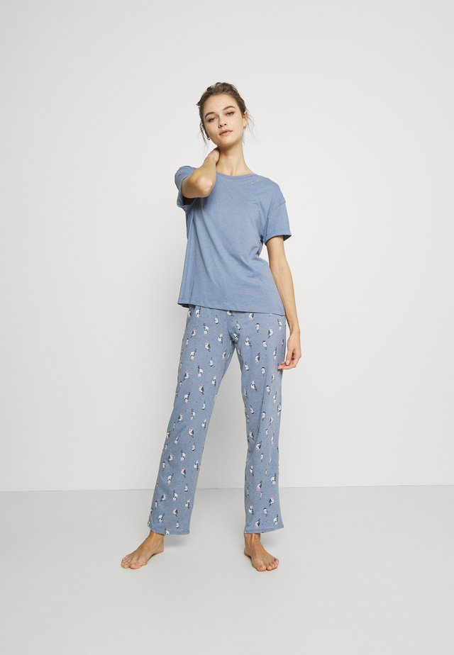 OWL - Pyjama - blue mix