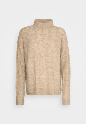 PCBECKY TURTLE NECK - Jumper - natural