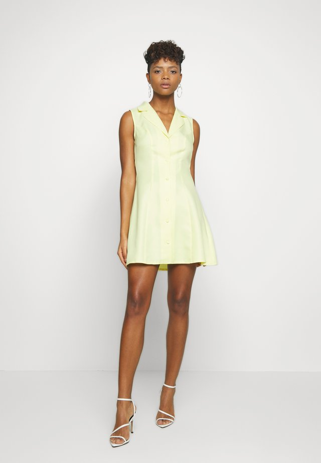 SLEEVELESS DRESS - Day dress - yellow