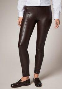 comma - Leggings - Trousers - brown - 0