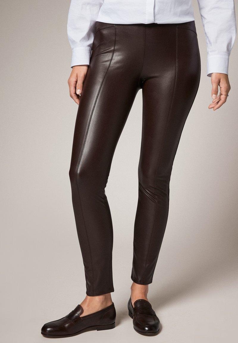 comma - Leggings - Trousers - brown