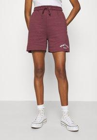 Missguided - MSGD SPORTS RAW HEM - Shorts - burgundy - 0