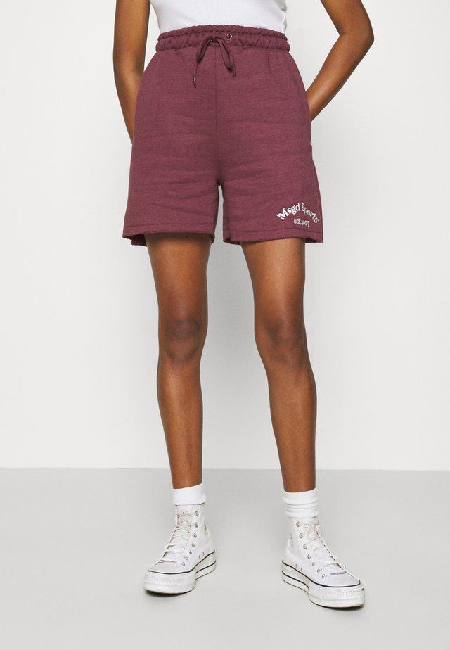 MSGD SPORTS RAW HEM - Shorts - burgundy