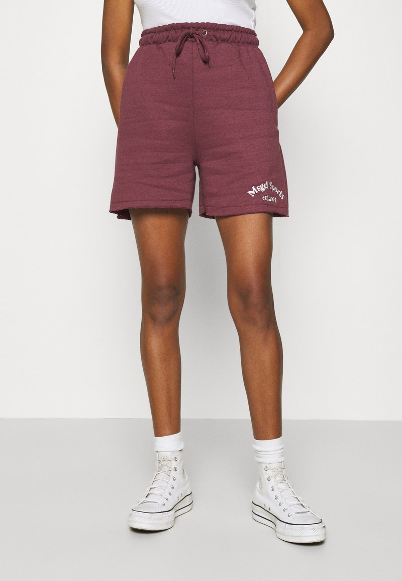 Missguided - MSGD SPORTS RAW HEM - Shorts - burgundy