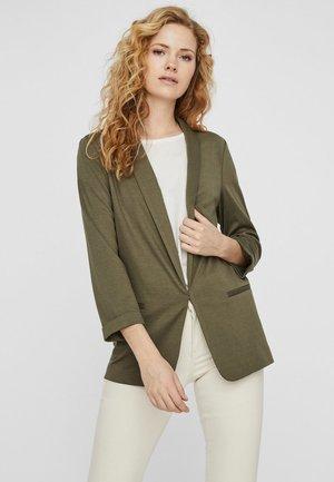 Halflange jas - ivy green