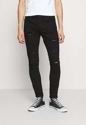 ONSWARP DAMAGE - Jeans slim fit - black denim