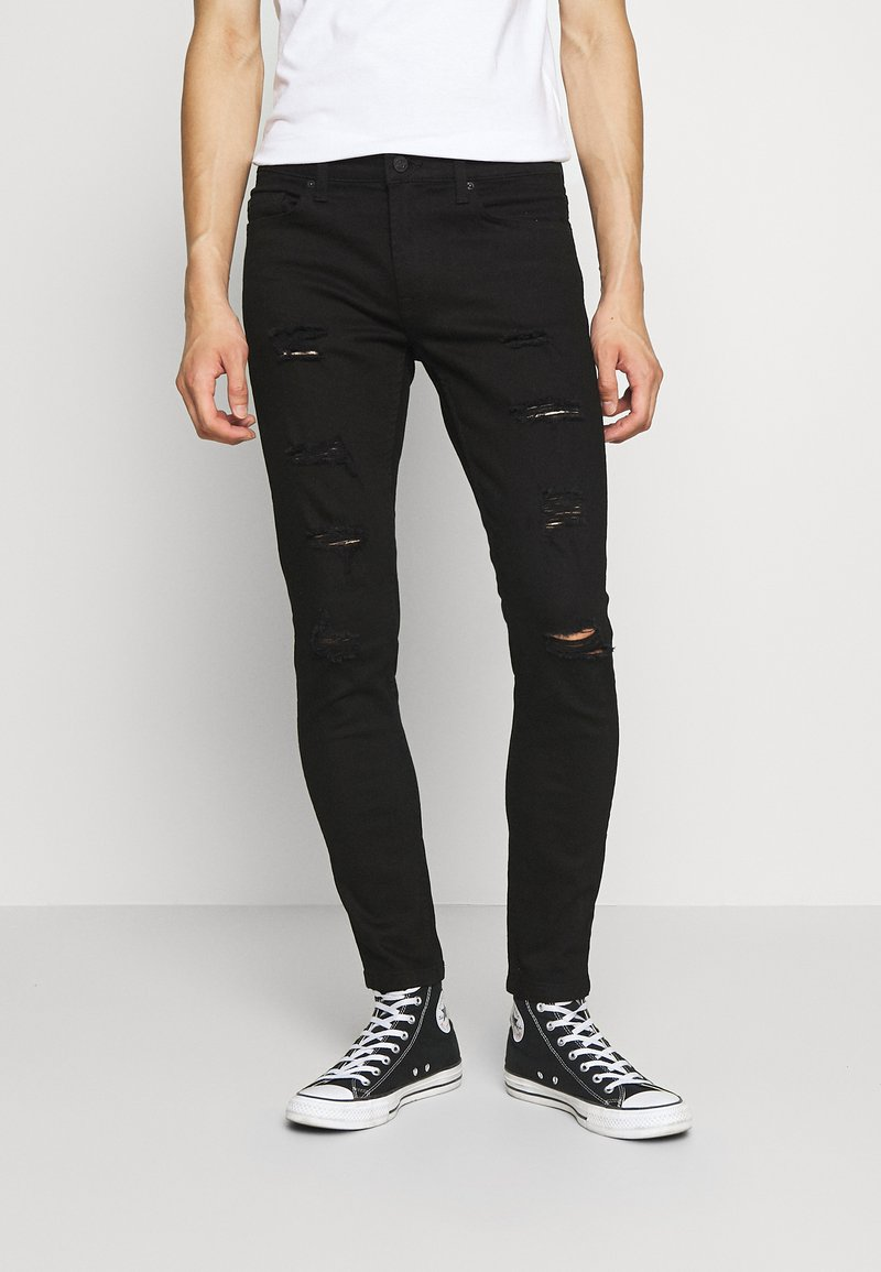 Only & Sons - ONSWARP DAMAGE - Slim fit jeans - black denim