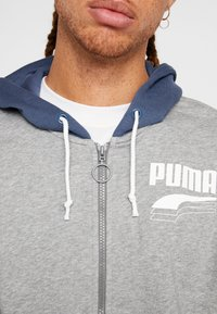 Puma - REBEL BLOCK HOODY - Mikina na zip - medium gray heather - 5