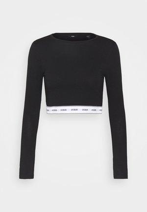 CROP - Maglia del pigiama - jet black