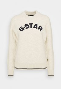 G-Star - COLLEGE GR ROUND LOOSE LLONG SLEEVE - Jumper - whitebait - 3