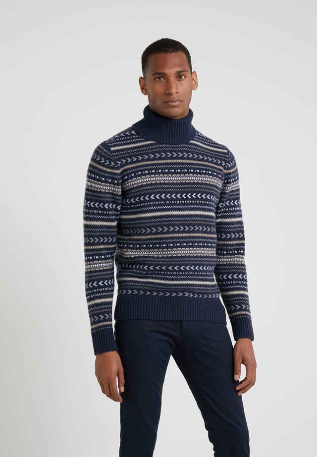 FAIRISLE ROLL NECK - Pullover - multi/blue