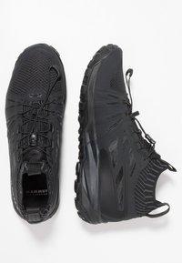 Mammut - SAENTIS KNIT LOW MEN - Hiking shoes - black/phantom - 1