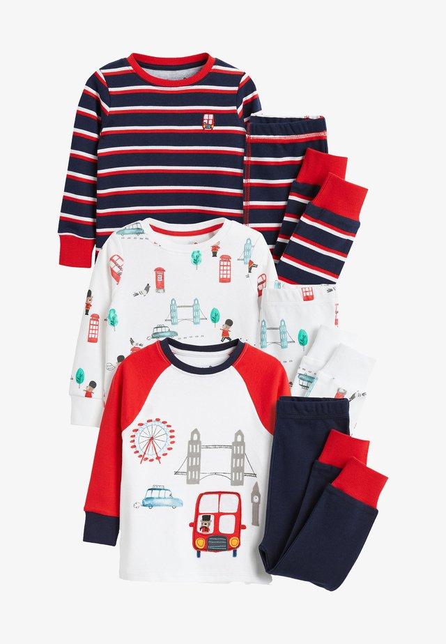 3 PACK LONDON BUS SNUGGLE PYJAMAS - Pyjama set - red