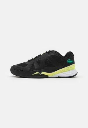 LC SCALE II - All court tennisskor - black/light yellow