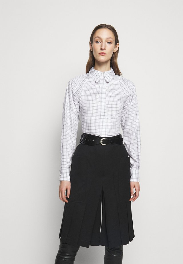 BUTTERFLY COLLAR FITTED  - Camicia - ecru/blue