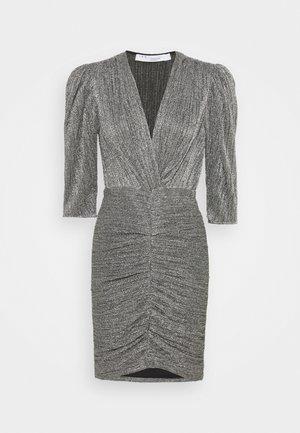 CLUZCO - Shift dress - black/silver
