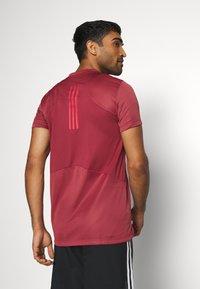 adidas Performance - HEAT.RDY TRAINING SLIM SHORT SLEEVE TEE - Print T-shirt - legend red - 2