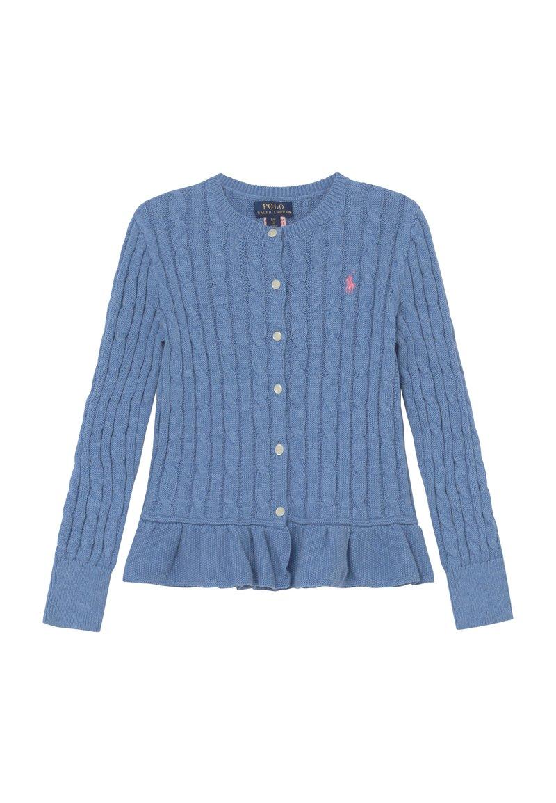 Polo Ralph Lauren - PEPLUM - Kardigan - soft royal heather