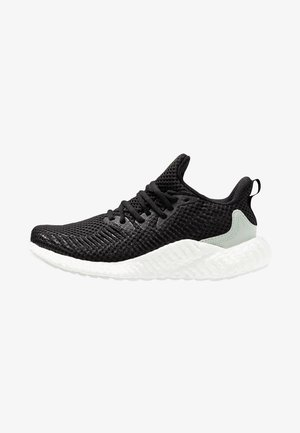 ALPHABOOST PARLEY - Neutral running shoes - core black/linen green/footwear white