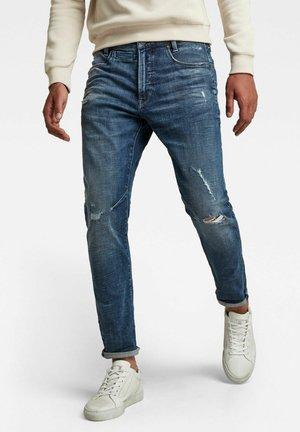 D-STAQ 3D  - Slim fit jeans - faded ripped baltic sea