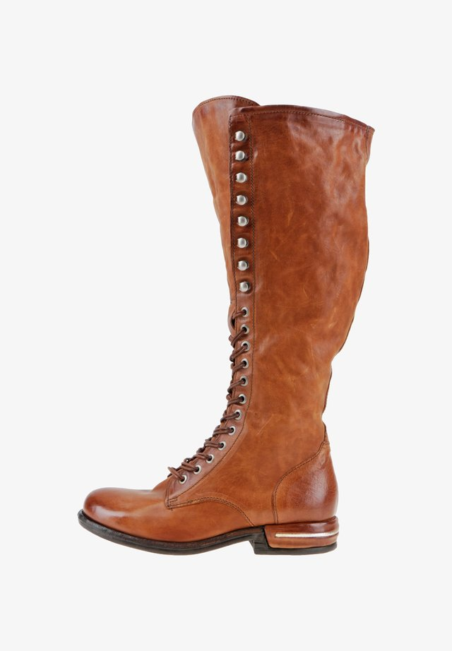 Lace-up boots - calvados