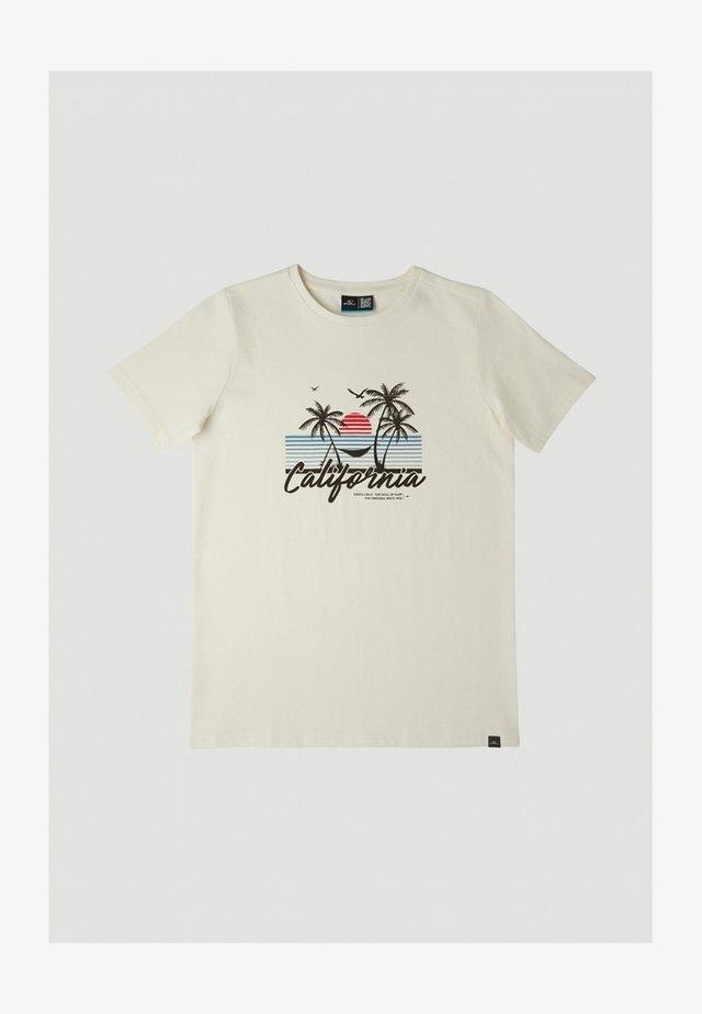 CALIFORNIA BEACH - T-shirt imprimé - egret