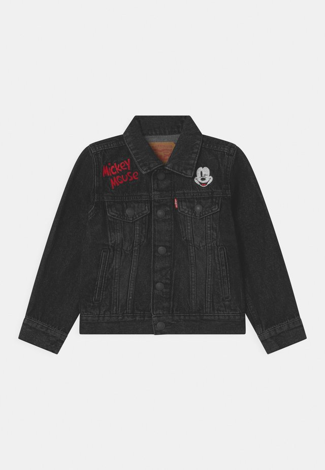MICKEY MOUSE TRUCKER UNISEX - Denim jacket - washed black