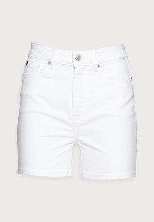 DENIM ROME STRAIGHT - Denim shorts - white