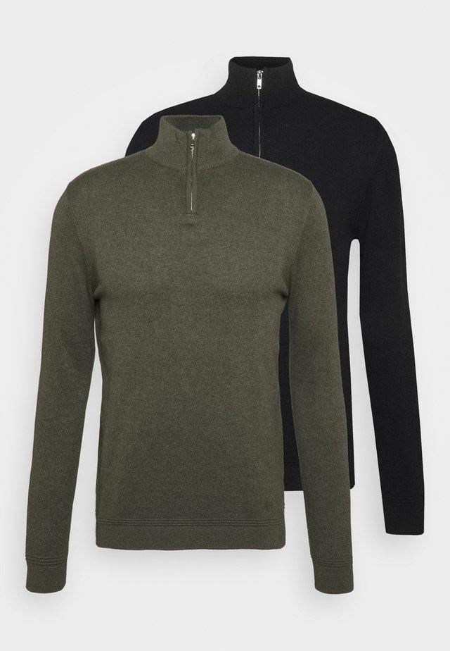 2 PACK - Stickad tröja - black