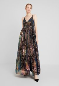 Maya Deluxe - ALL OVER SEQUIN MAXI DRESS WITH THIGH SPLIT - Abito da sera - multi - 0