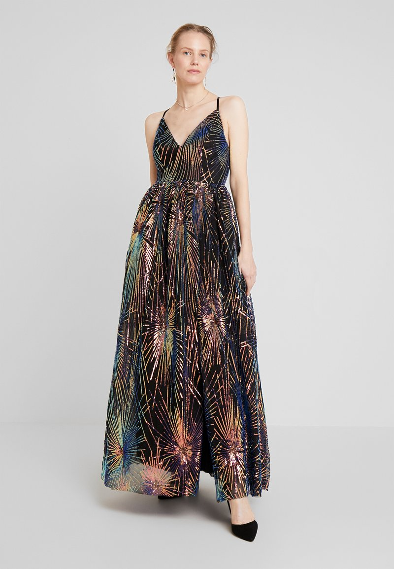 Maya Deluxe - ALL OVER SEQUIN MAXI DRESS WITH THIGH SPLIT - Abito da sera - multi