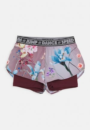 OMARI - Träningsshorts - light pink/bordeaux