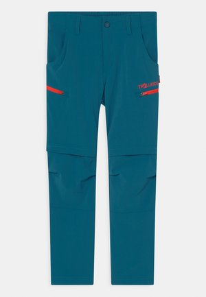 KJERAG ZIP OFF  2-IN-1 UNISEX - Outdoor trousers - petrol/spicy red