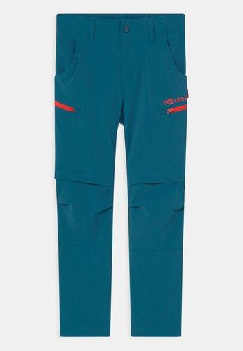 KJERAG ZIP OFF  2-IN-1 UNISEX - Outdoor trousers - petrol/spicy red