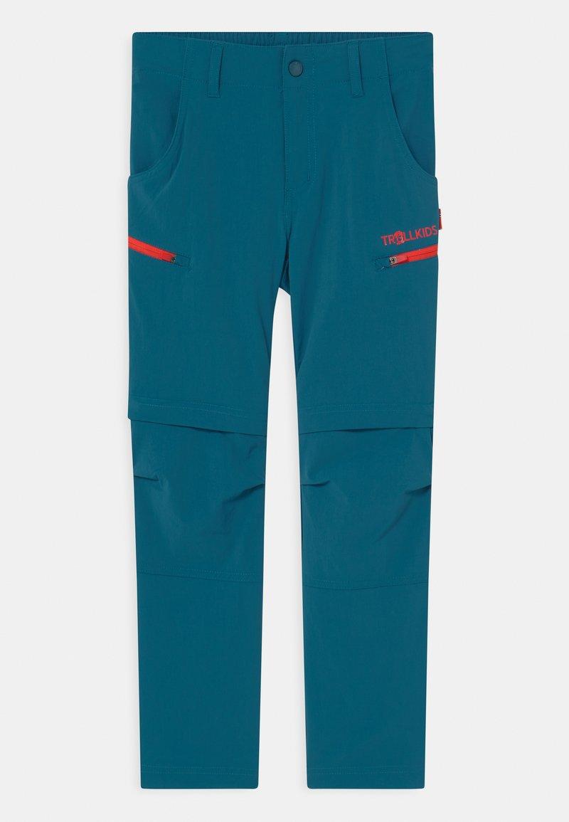TrollKids - KJERAG ZIP OFF  2-IN-1 UNISEX - Outdoor trousers - petrol/spicy red