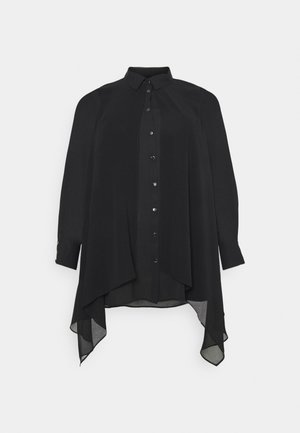 OVERLAY - Button-down blouse - black