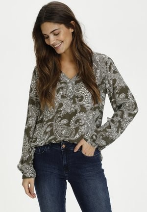 Blouse - grape leaf paisley