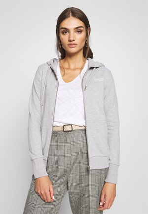 ZIPHOOD - Zip-up hoodie - grey marl