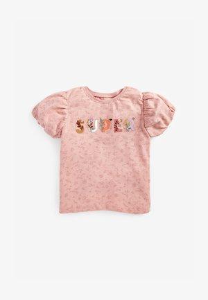 APPLIQUÉ SLOGAN - Print T-shirt - pink