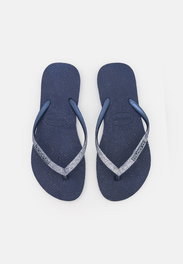 SLIM SPARKLE FADE - Bade-Zehentrenner - navy blue