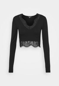 Missguided Tall - TRIM CROP TOP - Blouse - black - 0