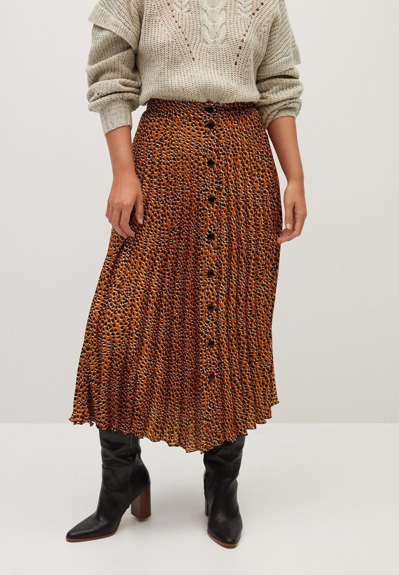 Violeta by Mango - PANTERA - A-line skirt - karamell