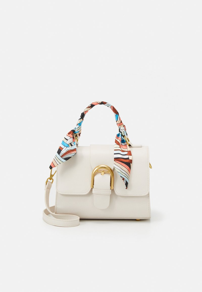 Pieces - PCABEERA CROSS BODY - Kabelka - cloud dancer/gold-coloured/multi