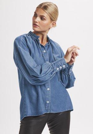Button-down blouse - light denim blue
